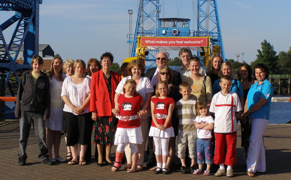 'Exhibition at the transporter bridge, Middlesbrough'